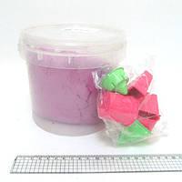 Набор кинетического песка в пластик.ведерке 1кг с форм. 6шт., mix6 (кварц.основа)