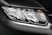 Renault Logan 2013 Реснички из нержавейки