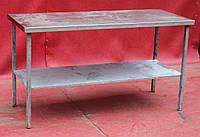 Стол производственный из нержавеющей стали с полкой 1500х600х850 см., (Украина), Б/у, фото 1