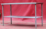 Стол производственный из нержавеющей стали с полкой 1000х600х850 см., (Украина), Б/у, фото 1