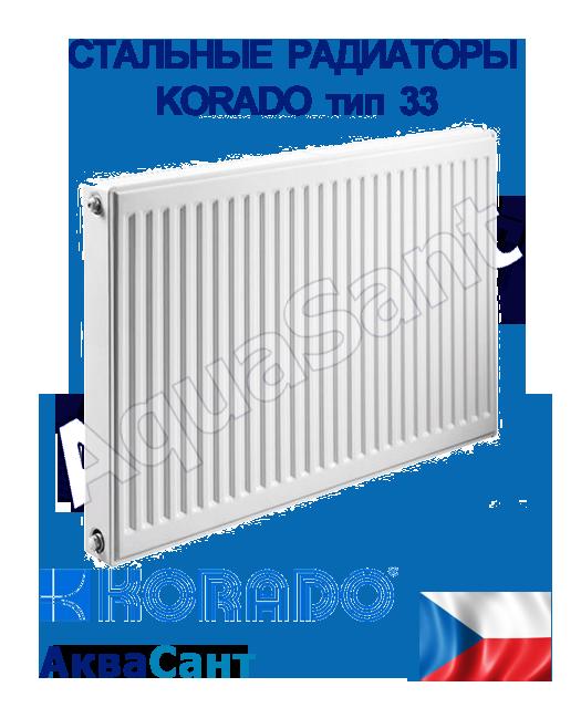 Сталеві радіатори Korado тип 33 бокове підключення