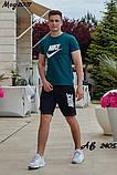 Мужской летний комплект футболка шорты найк, фото 5