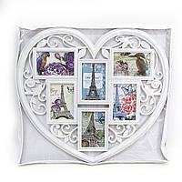 "Ф/рамка 6 в 1 ""Люблю Париж"", черн., белая, 10х15"