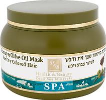 Маска для сухого і фарбованого волосся з оливковою олією і медом Health & Beauty (250мл.)