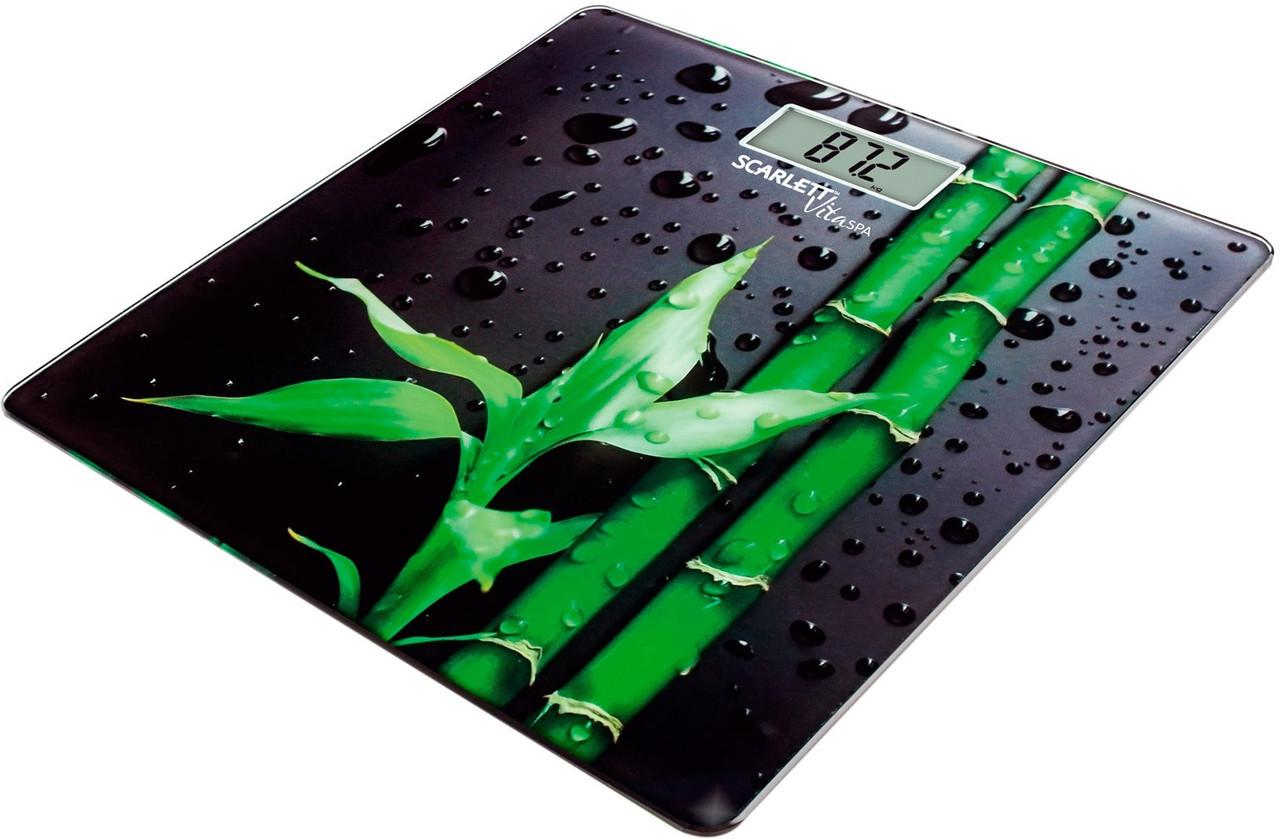 Весы напольные SCARLETT SC-BS33E051 (Бамбук) до 180 кг