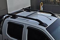 Nissan Navara Оригинальные рейлинги (с поперечинами) Черные