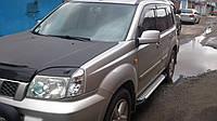 Nissan X-Trail 2002-2007 Боковые пороги Allmond Grey