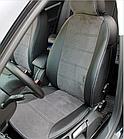 Чехлы на сиденья Рено Трафик (Renault Trafic) 1+1 (модельные, экокожа+Алькантара, отдельный подголовник), фото 2
