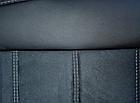 Чехлы на сиденья Рено Трафик (Renault Trafic) 1+1 (модельные, экокожа+Алькантара, отдельный подголовник), фото 6