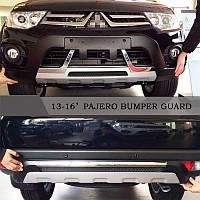Mitsubishi Pajero Sport 2013-2015 Передняя и задняя накладки