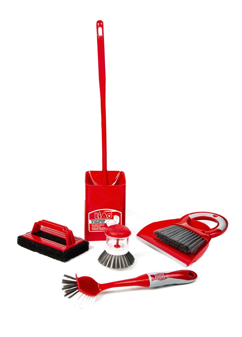 Универсальный набор для уборки  6 предметов Liao 54х21см Красный