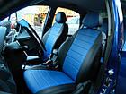 Чехлы на сиденья Рено Меган 2 (Renault Megane 2) (универсальные, кожзам, с отдельным подголовником), фото 2