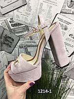 Женские эксклюзивные босоножки  на высоком каблуке 35