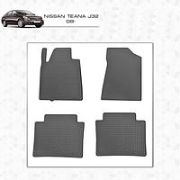 Nissan Teana резиновые коврики Stingray Premium