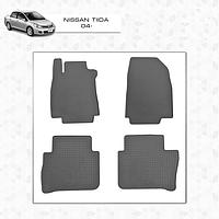 Nissan Tiida 2011↗ резиновые коврики Stingray Premium