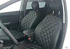 Чехлы на сиденья Пежо Партнер (Peugeot Partner) (1+1,модельные, 3D-ромб, отдельный подголовник), фото 6