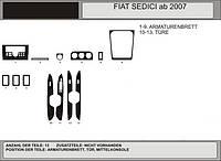 Fiat Sedici 2006-2020 накладки на панель цвет светлый шпон
