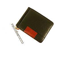 Купюрник-зажим кожаный для денег магнитный RoccoBarocco 5182, отделы для карт