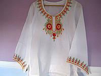 Блуза женская, с вышивкой