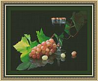 Набор для вышивки крестом Юнона 0124 Виноград и вино