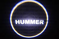 Подсветка дверей авто / лазерная проeкция логотипа Hummer