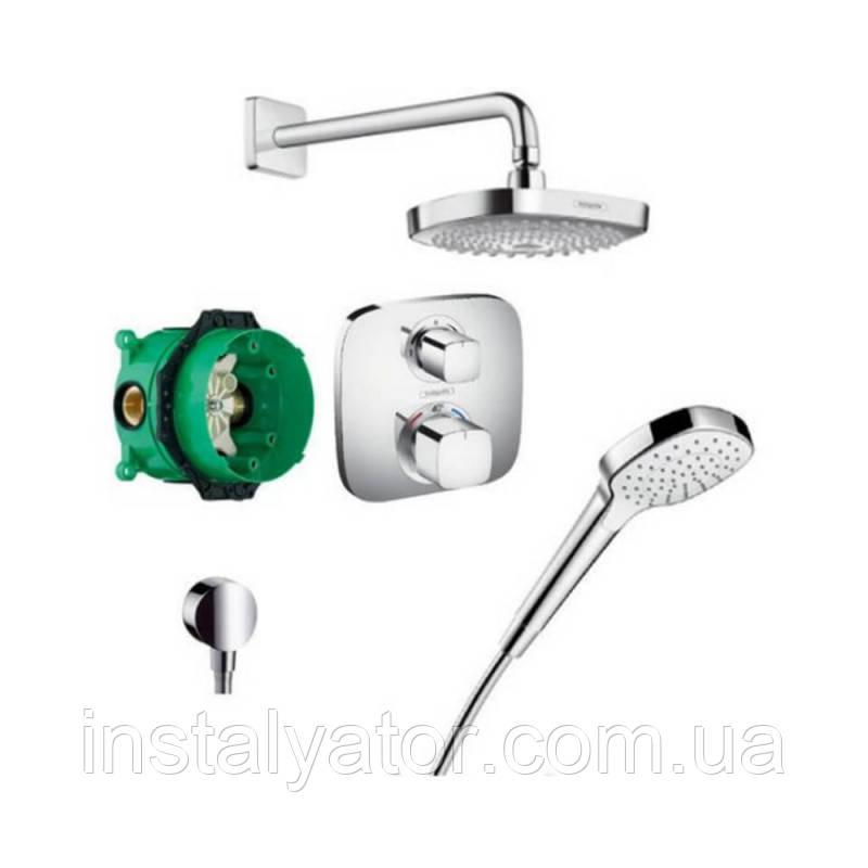 Hansgrohe Croma Select E 27294000 душевая система скрытого монтажа с термостатом