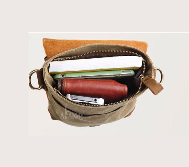 Винтажная сумка AKArmy внутреннее отделение