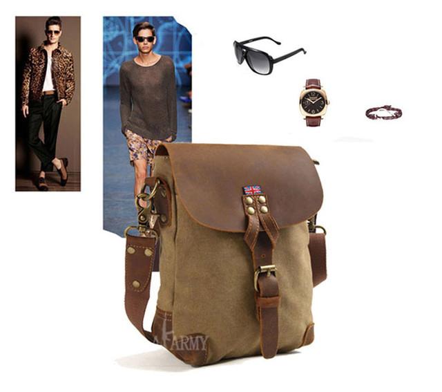 Винтажная сумка AKArmy сочетание аксессуаров