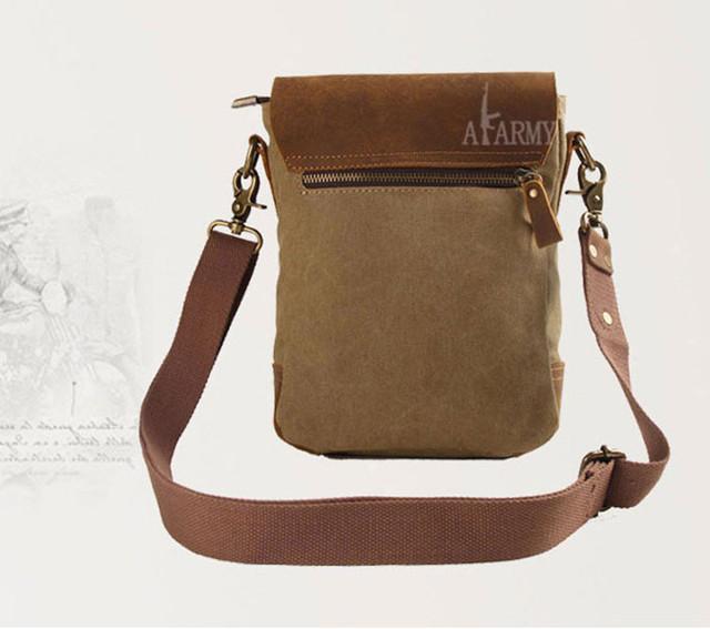 Винтажная сумка AKArmy вид сзади