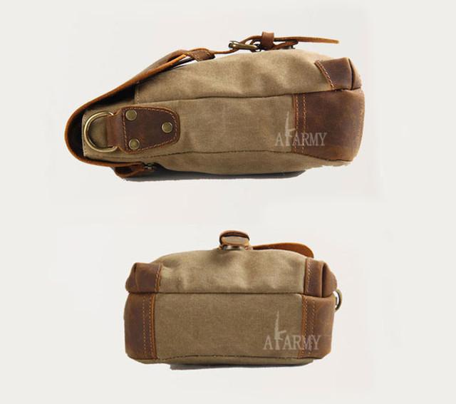 Винтажная сумка AKArmy вид сбоку и снизу