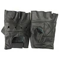 Кожаные беспалые перчатки MilTec Black 12517002