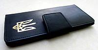 Мужской черный кошелек Тризуб, фото 1