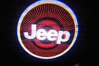 Подсветка дверей авто / лазерная проeкция логотипа Jeep | Джип