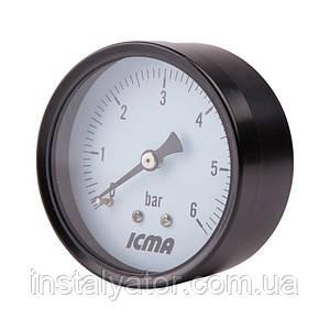 "Манометр заднего подключ.1/4   0-10 бар ""Icma"" №243"
