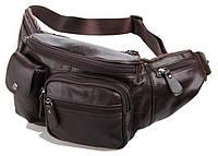 Поясная сумка Vintage 14431 кожа Коричневая, Коричневый