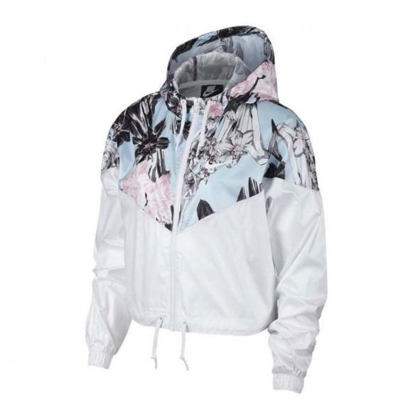 Куртки и жилетки женские W NSW HYP FM JKT CROP WR AOP(02-08-02-03) S