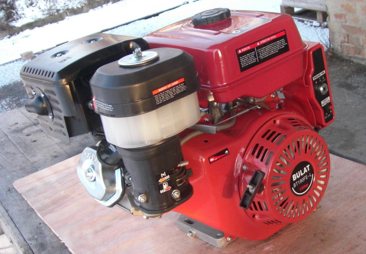 Двигатель Булат BТ190FЕ-L (HONDA GX420) (редуктор 1/2, шпонка, бензин 16л.с., электростартер)