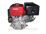 Двигатель Булат BТ190FЕ-L (HONDA GX420) (редуктор 1/2, шпонка, бензин 16л.с., электростартер), фото 2