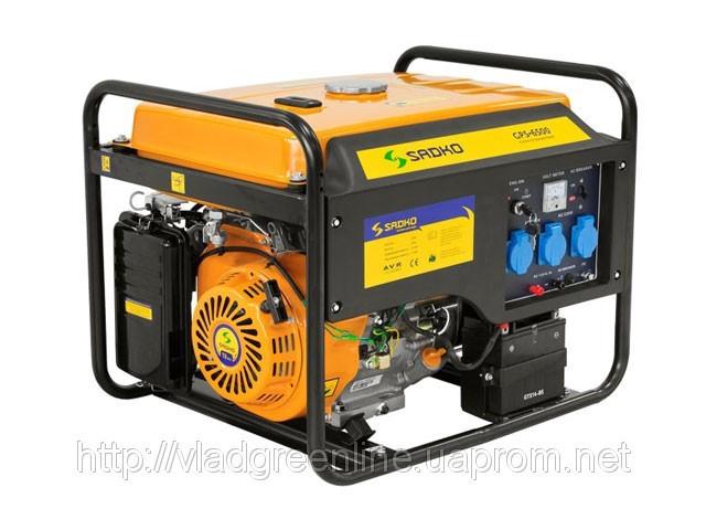 Генератор тока SADKO GPS 6500 E (электростартер) + подарок