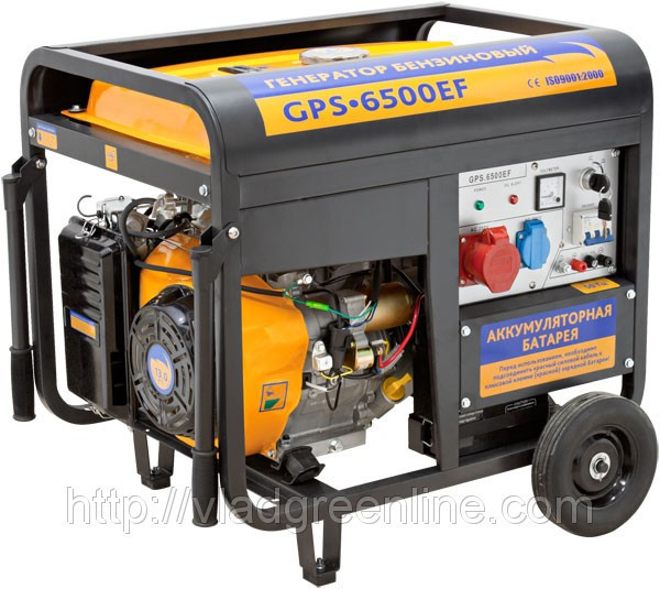 Генератор тока SADKO GPS 6500EF  (электростартер) + подарок
