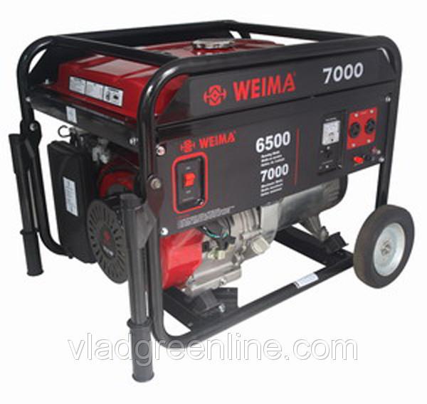 Генератор WEIMA WM7000E (7 кВт) 3 фазы, электрост. бензин