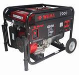 Генератор WEIMA WM7000E (7 кВт) 3 фази, электрост. бензин, фото 3