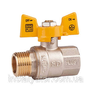SD Шар.кран 3/4 БГШ газ PN40   SD607NG20PN40