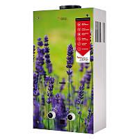 Колонка газовая дымоходная Aquatronic JSD20-AG108 10 л стекло цветок