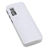 Powerbank 3x USB 1-2A + LED + Дисплей/ Повербанк тройной USB плюс фонарик Белый без батарей, фото 2