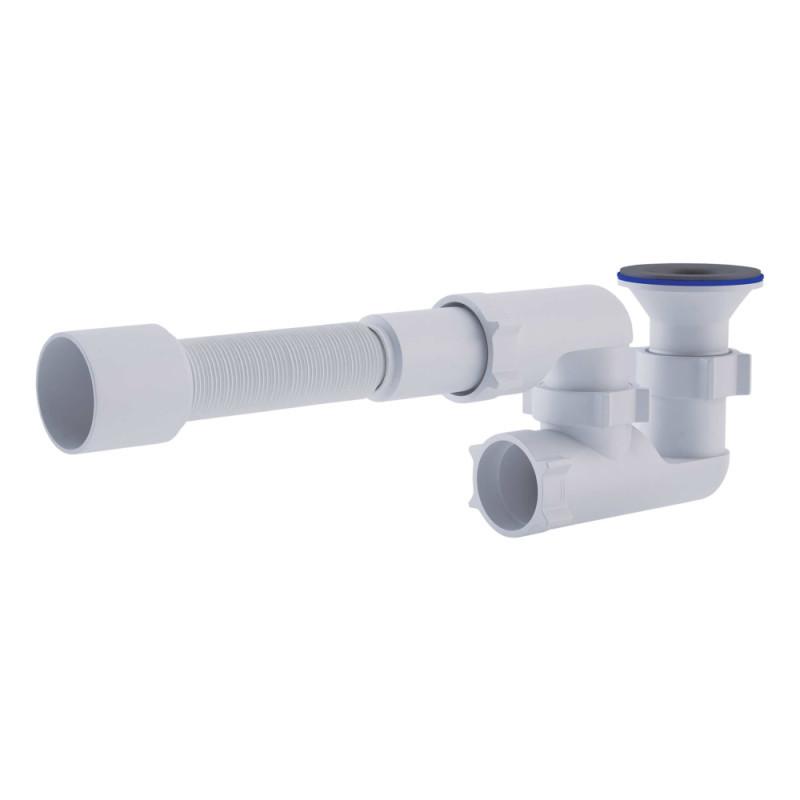 Сифон АНИ Пласт  (Е215-E216) для душ поддона с ревизией, выпуск 70 мм (выход 50 мм)