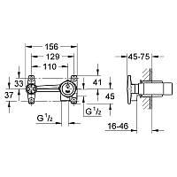 Grohe 32635000 смеситель однорычажный встраиваемый универсальный механизм