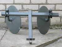 Окучник дисковый с двойной сцепкой Ø42 см. Про Тек