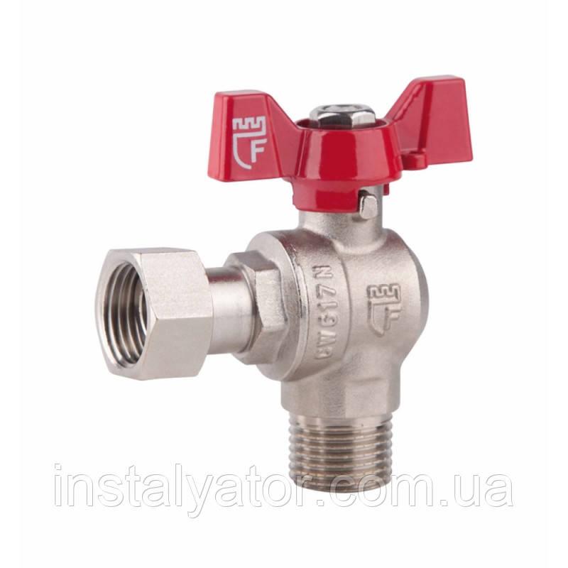 SD FORTE Кран шаровой угловой с накидной гайкой для воды 3/4в х 3/4н   SF224W20
