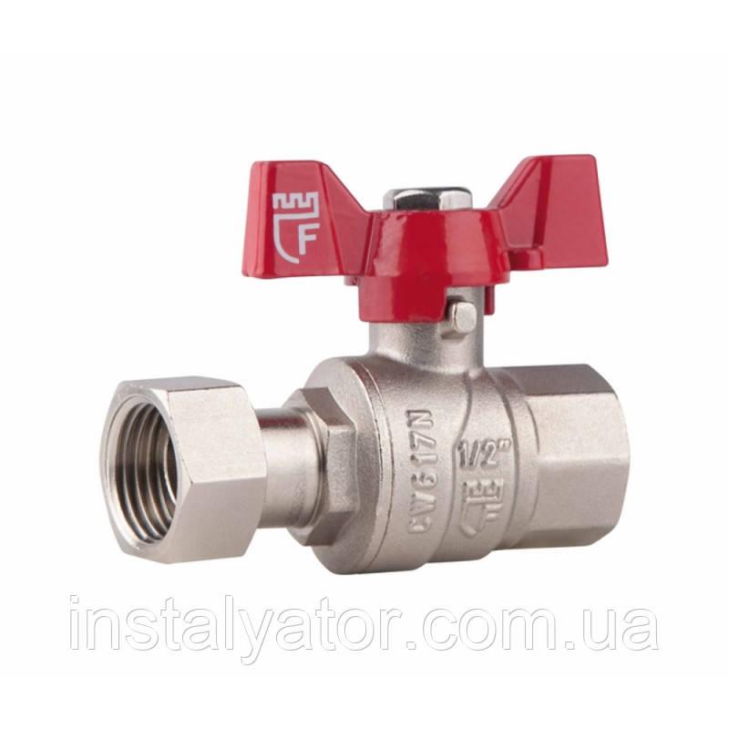 SD FORTE Кран шаровый прямой с накидной гайкой для воды 1/2в х 1/2в   SF260W15